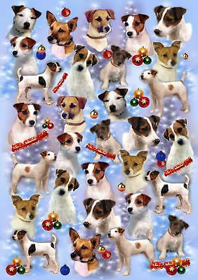 Parson/Jack Russell Xmas Wrapping Paper By Starprint - Auto combined postage