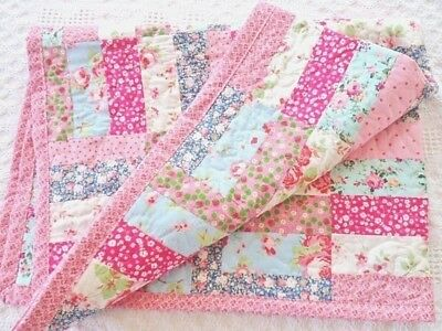 Patchwork Quilting Kit Moda Jelly Roll Cotton Fabric & Wadding **COMPLETE KIT**