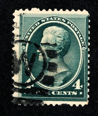 DR JIM STAMPS OLD US SCOTT 211 4C JACKSON USED NO RESERVE FREE SHIPPING