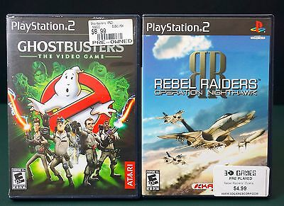 Ghostbusters: The Video Game & REBEL RAIDERS / SONY PS2 / 2 PACK LOT!!