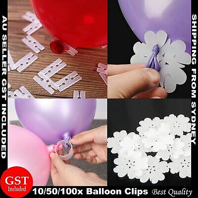 Balloon Clips H V  Clip Tie Filled Helium Air Balloons Wedding Party Decoration