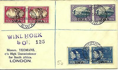 3/12/1945 SWA First Day Cover FDC - Postage & Revenue - WINDHOEK SO 125