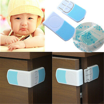 1/4/10pcs Kid Baby Cupboard Cabinet Door Right Angle Safety Drawer Lock Latches