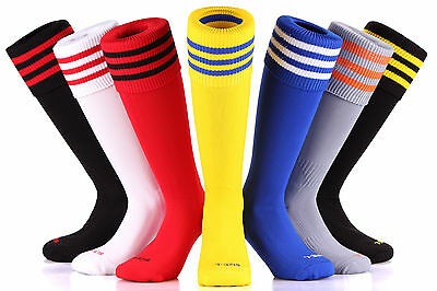 Samson® Football Striped Socks Knee High Made Uk Hockey Rugby Soccer Mens Womens