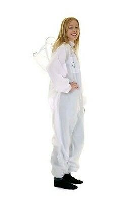 Beekeeping White Round Veil Suit-Buzz Basic- Size: L