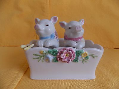 Lenox Butterfly Meadow Pig Salt and Pepper Shakers