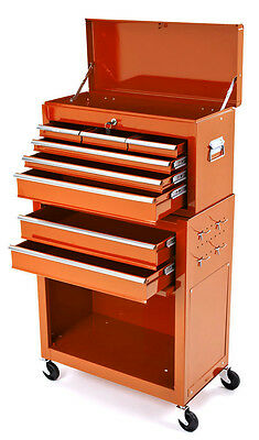 New Motorcycle Mechanics Heavy Duty Tool Box Chest & Roller Cabinet Ktm Orange