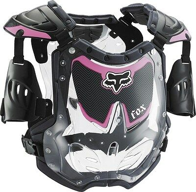 New Fox Racing Black Pink Small R3 Roost Deflector Chest Protector Youth Girls