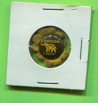 1936 LANDON KNOX SUNFLOWER SMALL PRESIDENTIAL CAMPAIGN BUTTON PIN-BACK