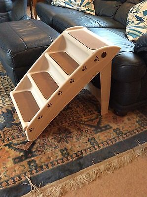 Folding Dog / Pet Steps Stairs Compact Lightweight Ramp Travel Car (NEW & BOXED)
