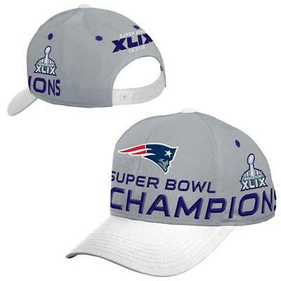 New England Patriots Youth 8-20 White Super Bowl XLIX Champions Adjustable Hat