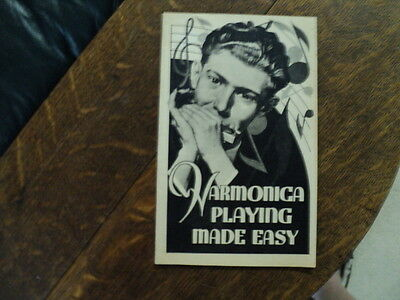 Booklet, Harmonica Playing Made Easy, M. Hohner, Inc.  1937