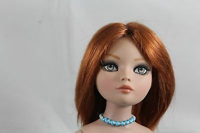 """SIZE 7-1/4 MONIQUE  WIG  """"MAY"""", DOUBLE RED, MADE FOR A ELLOWYNE WILDE DOLL"""