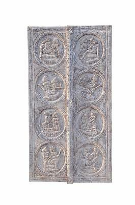 lovely INDIA Rajasthan great carved KAMASUTRA door panel natural wood D ED-11-49