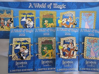 Disney A World of Magic Annual Passholder Pins - Complete Set 5 Pins 2013