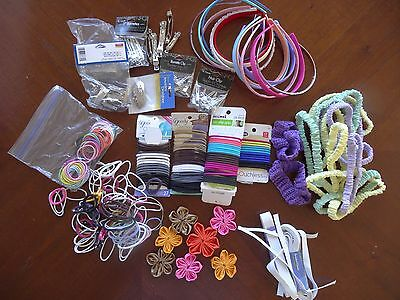 HUGE LOT OF Headband & Hair Accessory Making Supplies ~ MY ENTIRE COLLECTION ~