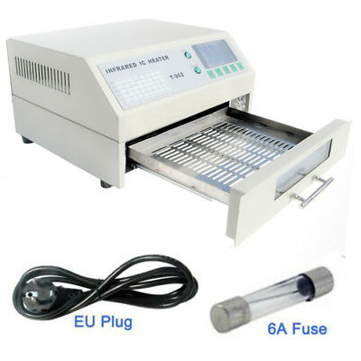 T962 800W Infrared SMD BGA IC Heater Reflow Oven Windowed Drawer 180×235mm Area