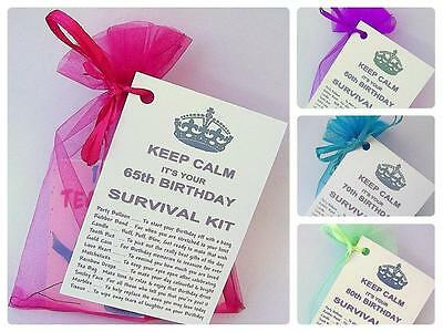 60th 65th 70th 80th BIRTHDAY PRESENT SURVIVAL KIT FUN NOVELTY GIFT CARD KEEPSAKE
