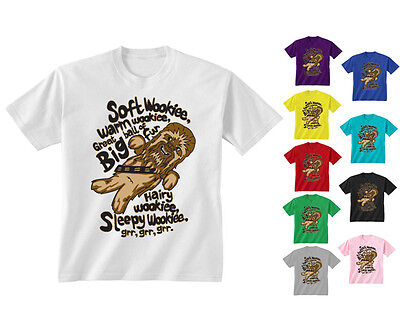 05278a960 Youth Kids Childrens Soft Wookie Warm Wookie Funny Slogan T-shirt Age 5-13