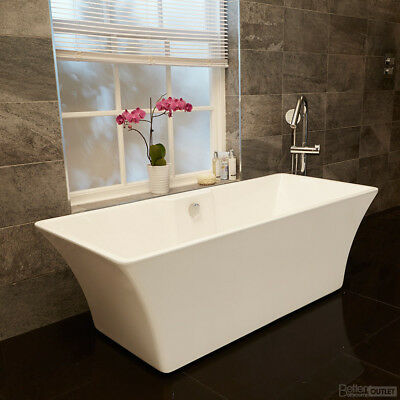 Freestanding Bath Modern Double Ended Bath Tub Bathroom Suite White Acrylic