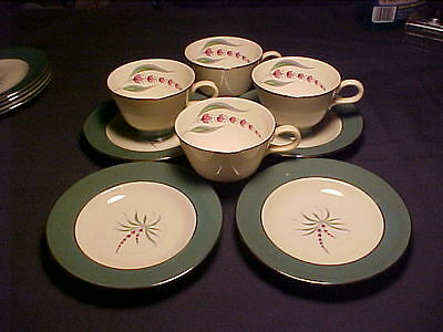 Vintage Collectible Homer Laughlin*Cavalier Eggshell*4Cups/4Saucers-ex.cond