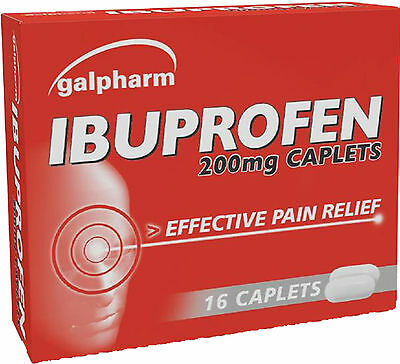 Galpharm Ibuprofen 200mg Caplets 16 Pack - Effective pain Relief