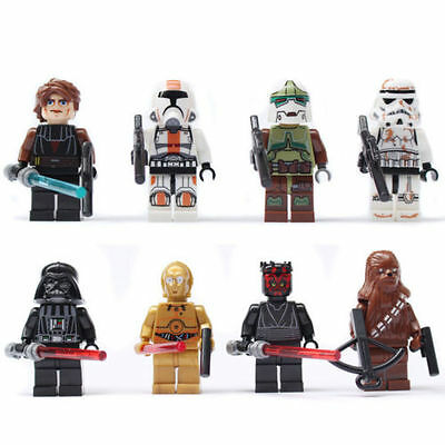 2015 NEW Lot of 8 sets Star Wars Series 2 Minifigures Series Blocks Toy New