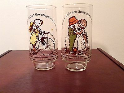 Coca Cola Holly Hobbie Happy Talk Glasses - Set of 2 - Limited Edition