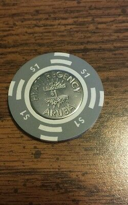 $1 Hyatt Regency Casino Chip ~ Aruba ~