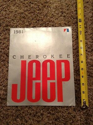 1981 Cherokee Jeep dealer advertisement pamplet book, seller's guide ad