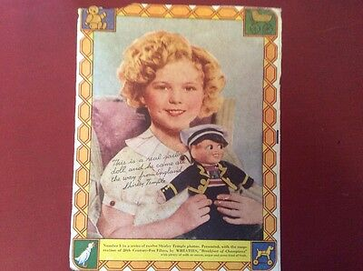 Shirley Temple Cut Out No 5 of 12 in a Series
