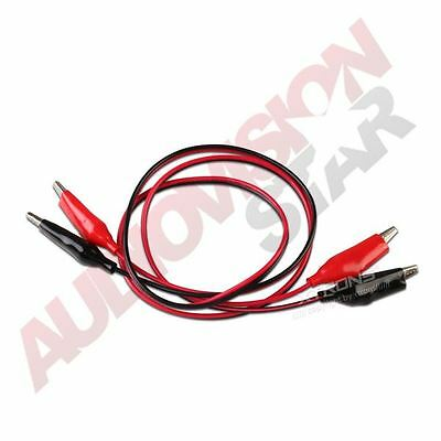 Croc Crocodile Clip Double-ended Test Insulated Leads Cable Wire Black Red 100cm