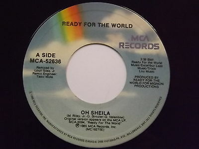 Ready For The World Oh Sheila I'M The One WhO Loves You Pop Soul 45 Listen!