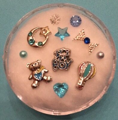 Floating Charm Set~*~It's A Boy! Baby On Board~*~for Living Memory Lockets