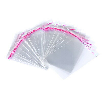 200Pcs Clear Self Adhesive Seal Plastic Bags (Usable Space:8x7cm) 7x10cm