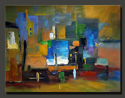 """40""""x30"""" CONTEMPORARY Abstract  art Oil Painting Canvas Color combinations"""