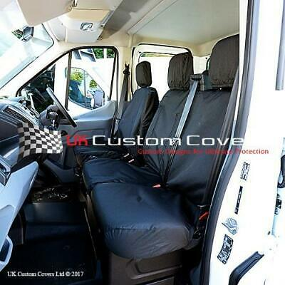 Ford Transit Van Mk8 2014 + Inc Tipper Tailored Front Seat Covers - Black 120