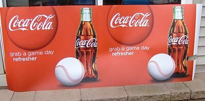 COCA COLA BASEBALL BARREL WRAP~NEW~GRAB A GAME DAY REFRESHER