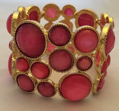 Style & Co Pink And cold Stone Stretch Women Bracelet
