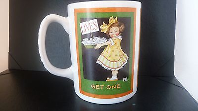"MARY ENGELBREIT ""Lives: Get One"" smarty pants  COFFEE  MUG ""Get a life"" snarky"