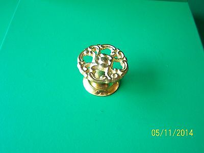 "Antique Style Victorian Drawer Knobs 1 1/4"" Dia. Solid Brass"
