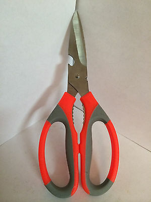 Multifunction Stainless Steel Heavy Duty Kitchen Scissors Nut cracker US seller