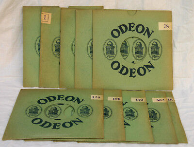 "10 Orig. Odeon Plattenhüllen Im Seltenen Format 27,5 Cm/cover For 11"" Record C55"
