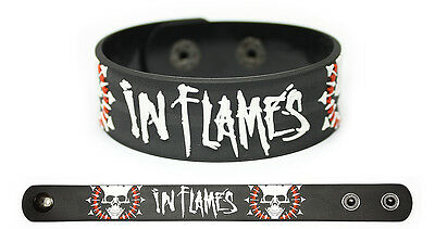 IN FLAMES Rubber Bracelet Wristband Siren Charms Sounds of a Playground Fading