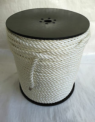 Pre-Stretched White Polyester Rope 6,8 & 10 mm, moorings, anchors, boats, marine