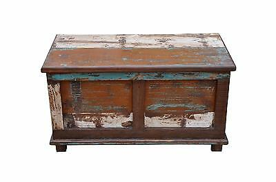 India patchwork chest box cassette single piece of antique wood