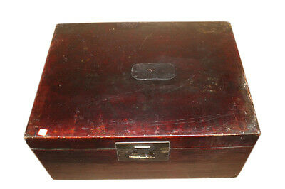 China around 1940 dark brown chest box in antique leather look
