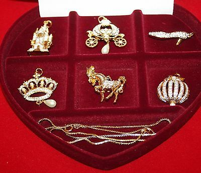 CINDERELLA'S ENCHANTED PENDANT COLLECTION - FRANKLIN MINT IN CASE WITH COA