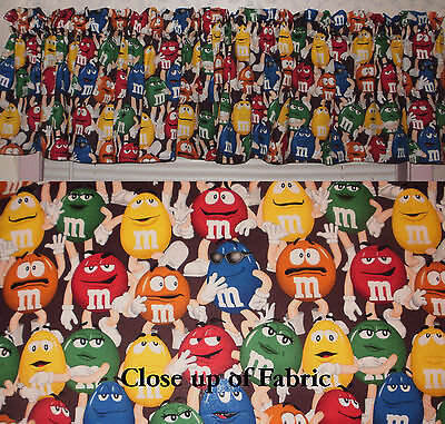New M&M Candy Chocolate Lovers M and M's Valance Curtain Kitchen Nursery