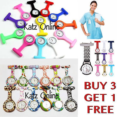 Premium Quality Silicone Nurse Watch Brooch Tunic Fob Watch Doctor Brooch Pin B3